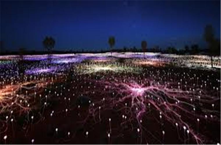 碧山旅行-澳洲旅游-在乌鲁鲁大石下体验原野灯光