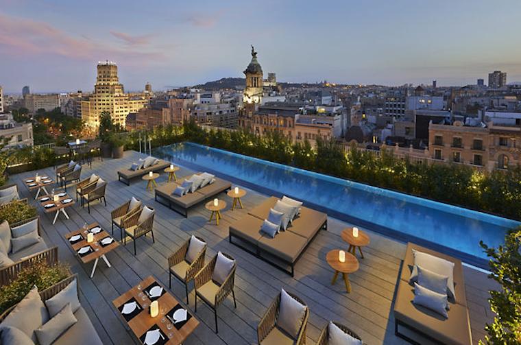 碧山旅行-露台欣赏360度城市全景风光