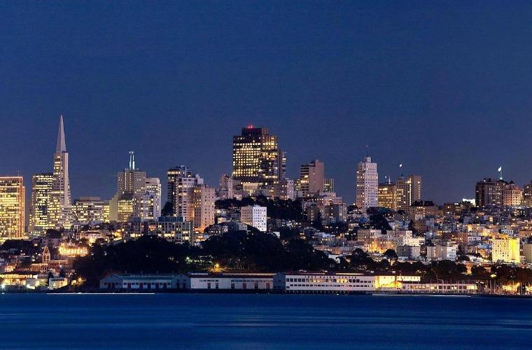 碧山旅行-美国旅游-旧金山迷人的夜景
