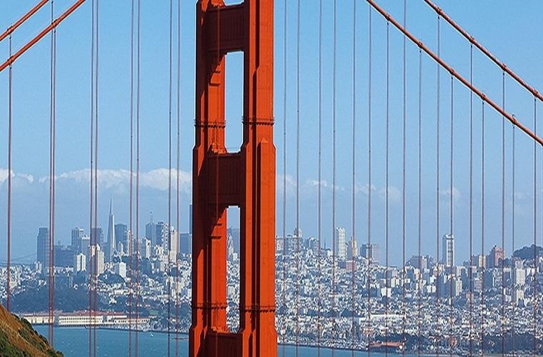 碧山旅行-美国旅游-金门大桥,巍峨壮观